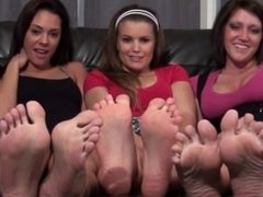 Foot JOI With 3 Girls