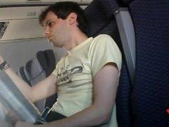 Cum flying on plane