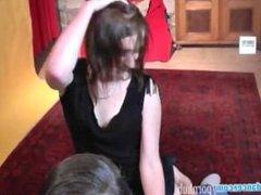 Czech 18yo cutie does her first erotic lapdance