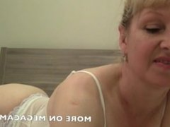 Hot Mature Wife Mandy Plays On Webcam With her body!