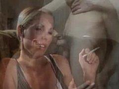 Sexy Blonde Smoker vs Gay Action