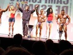 MUSCLEDAD XISCO Entrega premios podium Cto. España WABBA 2012-Malaga