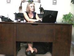 angelkissedfeet under the desk