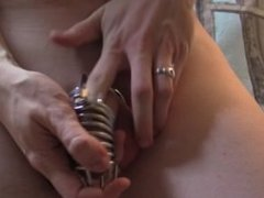 Locking my Cock in Jailbird Chastity Cage
