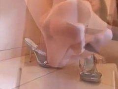 pantyhose white feet