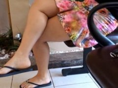 Sexy Feet and Legs in Flip Flops