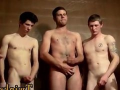 Gay video The boys are gathering around and jerking off over him, letting