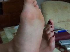Russian girl with big, smelly feet (size 10)