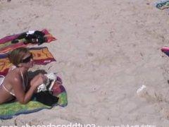 talking girls into flashing tits for free tshirts on florida beach