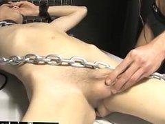 Gay fuck Roxy likes every minute of this super-sexy restrain bondage scene