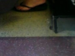 Perfect Teen Feet on Bus