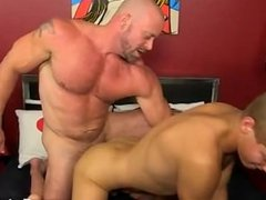 Gay cock Blade is more than glad to share his lad boner and taut hole