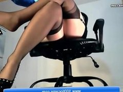Amazing Secretary Have horny Sex Show On Her Office From 100tipcams.com