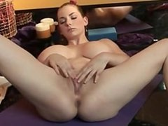 BUSTY YOGA BABE SHOWS US HOW TO STRETCH