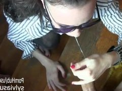 Amateur Wife POV Facial and Cum on My Converse Sunglass- Sylvia Chrystall.