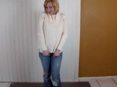 CFNM POV Blowjob and Cum Swallow for Her New Sweater