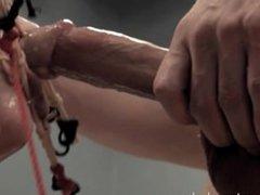 Alisha Adams, the mechanical blowjob and assfuck doll