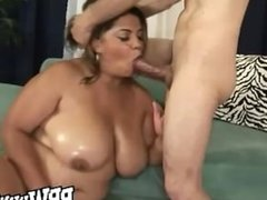 Big Tit Ebony Wetting Her Snatch
