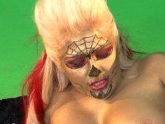 Britney Amber lesbian makeup fun