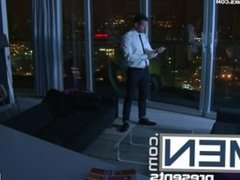 Villain Tomas Brand flips on the light of his Penthouse suite to find Secre