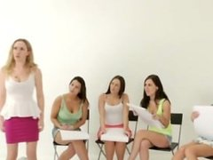 A group of euro CFNM MILFs get to jerk guy
