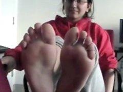 Arab girl feet tickled