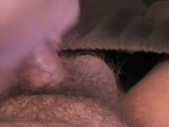 Quickie Blowjob While hubby is in bathroom