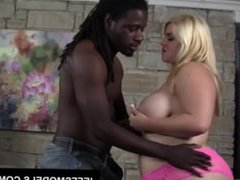 Blonde BBW Mazzeratie Monica does the dirty with a black dude