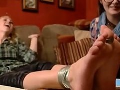 Feet Tickling of two blonde teens