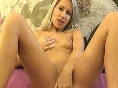 Blonde Cam Girl Masturbation