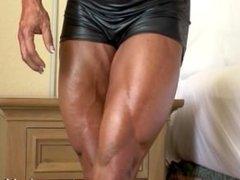 Smoking hot Tina C flexes her muscled body