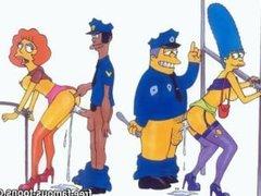 Simpsons porn hentai parody