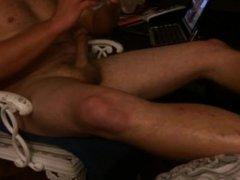 Jerkin off in my new pussy sex toy I cum inside of it