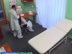 FakeHospital Sexy graduate gets licked and fucked on doctors desk for a job