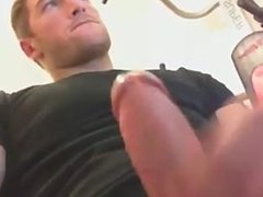 hot french guy shows off with happy ending