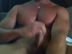 Cumming on the Big Chest
