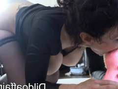 Michaela O Brilliant - Pink Double Dildo