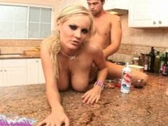 Hanna Hilton and Rocco Reed Fucking Hard In The Kitchen