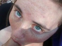white girl give head