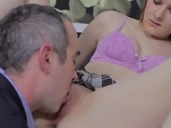 Teacher gets his cock buried deep inside a perfect barely legal pupil