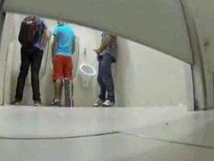 students having fun in washroom between classes