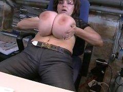 Milena Velba in the office