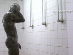 Hot footballer hidden cam shower