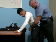 security agent gives a young suspect a choice: his way or the police