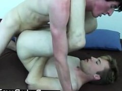 Twink movie of Laying down on the futon, Jase grasped his bone and