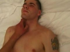Straight twink amateur cums for his pal