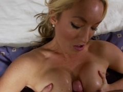 Hot blonde MILF POV first time porn