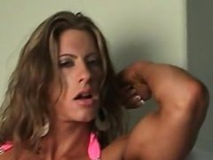 Angela Salvagno - pink dress & topless