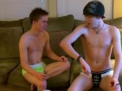Gay guys Trace films the action as William and Damien hook up for the