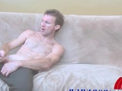 Fire Mechanic jerks off his big cock